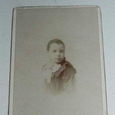 Fotografía antigua: FOTOGRAFIA ALBUMINA DE NIÑA, SIGLO XIX, CARTE DE VISITE, CDV, FOTOGRAFO COMPAÑY DE MADRID, MIDE 10,2. Lote 54649961