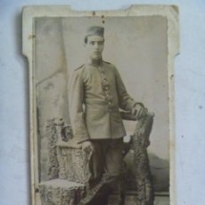 Fotografía antigua: CDV DE MILITAR DE CABALLERIA : LANCERO DE SAGUNTO , SIGLO XIX . DE CANO ¿ HUELVA ?. Lote 54655115