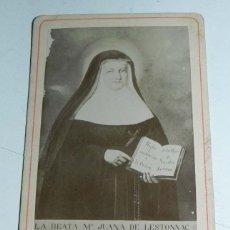 Fotografía antigua: FOTOGRAFIA ALBUMINA , CDV, SIGLO XIX, DE LA BEATA MARIA JUANA DE LESTONNAC FUNDADORA DE LA COMPAÑIA . Lote 54666007