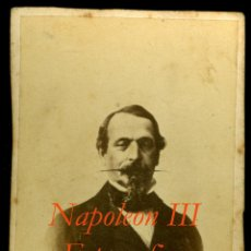 Fotografía antigua: NAPOLEON III - FOTOGRAFIA J. LAURENT - 1860'S . Lote 54915497