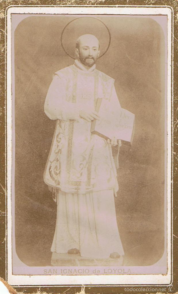 CARTA DE VISITA DE SAN IGNACIO DE LOYOLA. CA.1880 (Fotografía Antigua - Cartes de Visite)