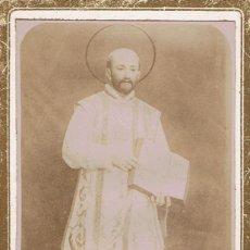 Fotografía antigua: CARTA DE VISITA DE SAN IGNACIO DE LOYOLA. CA.1880. Lote 55147657