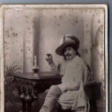Fotografía antigua: FOTOGRAFÍA ANTIGUA DEL FOTÓGRAFO, HARRY HALLIER, CARTE DE VISITE. Lote 55574586