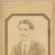 Fotografía antigua: FOTO CARTA DE VISITA. SEÑOR ENMARCADO DENTRO DE FOTO.CA.1895. PROCEDENCIA BARCELONA.SIN AUTORIA.. Lote 55914799