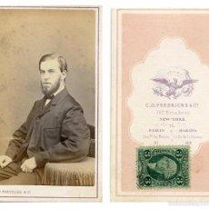Fotografía antigua: CHARLES D. FREDRICKS & Cª - CDV CON SELLO DE DE IMPUESTO DE GUERRA CIVIL. USA - HABANA (CUBA). Lote 56240020