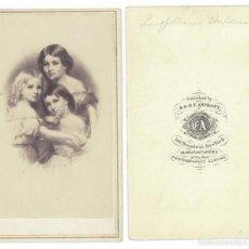 Fotografía antigua: CDV 1860S E. & H. T. ANTHONY & COMPANY - MATHEW BRADY - HIJAS POETA H. WADSWORTH LONGFELLOW USA. Lote 56260744