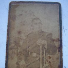 Fotografía antigua - CDV MILITAR DE CAZADORES CON BAYONETA , SIGLO XIX. FOTO: SERRA RIBERA Y CIA, BARCELONA . - 56277723