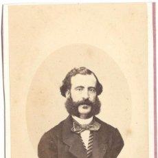 Fotografía antigua: FOTOGRAFÍA DE CABALLERO - CARTE DE VISITE - FOTÓGRAFO CONDE DE VERNAY - MADRID - SIGLO XIX. Lote 56304629