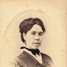 Fotografía antigua: FOTO CARTA DE VISITA. RETRATO DE SEÑORITA. CA.1890. FOTOG:FRANCO HISPANO AMERICANA.BARCELONA.. Lote 56328883