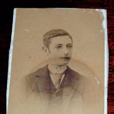 Fotografía antigua: FOTOGRAFIA ALBUMINA TIPO CDV DE CABALLERO DEL SIGLO XIX, FOTOGRAFIA JUAN TORRES, GRANADA, MIDE 10,5 . Lote 56329524