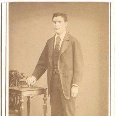 Fotografía antigua: FOTOGRAFÍA DE CABALLERO - CARTE DE VISITE - FOTÓGRAFO J. GUTIÉRREZ - SAN BERNARDO 1 - MADRID . Lote 56468572