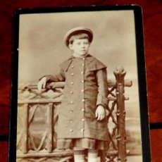 Fotografía antigua: FOTOGRAFIA ALBUMINA TIPO CDV DE NIÑA, FOTO A. RODRIGUEZ, SEVILLA, MIDE 10 X 6 CMS.. Lote 56486061