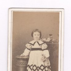 Fotografía antigua: RETRATO CDV DE NIÑA, FOTO: FRANCO HISPANO AMERICANO, BARCELONA.. Lote 56627980