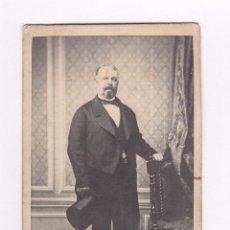 Fotografía antigua: JOSÉ CASADESÚS, SECRETARIO DEL LA REINA ISABEL II. FOTO: J. MAGISTRIS Y J. CORDEIRO, MADRID. 1860'S.. Lote 56678589