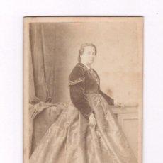 Fotografía antigua: RETRATO DE DAMA, FOTO: A. SAZERAC, LISBONNE, LISBOA. PORTUGAL. Lote 56678702