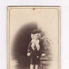 Fotografía antigua: MERCEDES SANMARTÍ, 4 AÑOS. FOTO: NAPOLEÓN. BARCELONA, CDV. Lote 56735276