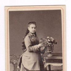 Fotografía antigua: JOSEFA CASADES Y DORIA, FOTO: NAPOLEÓN, BARCELONA. CDV. Lote 56736863