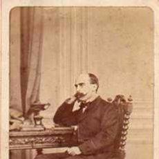 Fotografía antigua: FOTOGRAFÍA ALBUMINA. J. LAURENT. POLÍTICO CASTELAR. TARJETA DE VISITA.. Lote 56816318