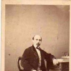 Fotografía antigua: FOTOGRAFÍA DEL POLÍTICO Y ESCRITOR DE CÁDIZ EMILIO CASTELAR. M. DE HERBERT FOTÓGRAFO MADRID.. Lote 56818131