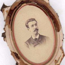 Fotografía antigua: TARJETA DE VISITA DE BERNARDINO DONATE Y ALBEROLA, CONTADOR DE NAVIO. FOTO LARAUZA BARCELONA. Lote 56819564