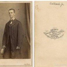 Fotografía antigua: MATHEW B. BRADY EL MÁS FAMOSO FOTÓGRAFO DE LA GUERRA CIVIL AMERICANA USA FOTOGRAFÍA TIPO CDV CA 1865. Lote 57018873
