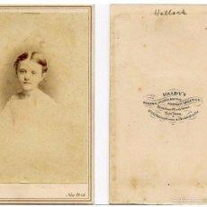 Fotografía antigua: MATHEW B. BRADY EL MÁS FAMOSO FOTÓGRAFO DE LA GUERRA CIVIL AMERICANA USA FOTOGRAFÍA TIPO CDV CA 1865. Lote 57018944