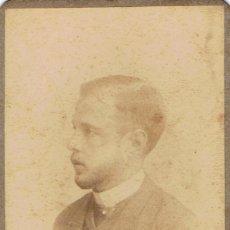 Fotografía antigua: FOTO CARTA DE VISITA. CABALLERO DE PERFIL.CA.1880-1885. FOTÓGRAFO: AUDOUARD. BARCELONA.. Lote 57075390