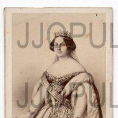 Fotografía antigua: ISABEL II REINA DE ESPAÑA. BORBÓN. DESMAISONS. CDV. SIGLO XIX. ORIGINAL. Lote 57151903