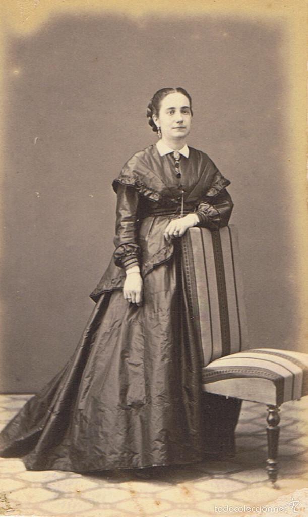 FOTO CARTA DE VISITA. RETRATO DE SEÑORITA . CA.1870-1875. FOTÓGRAFO: OTNAC. BARCELONA. (Fotografía Antigua - Cartes de Visite)