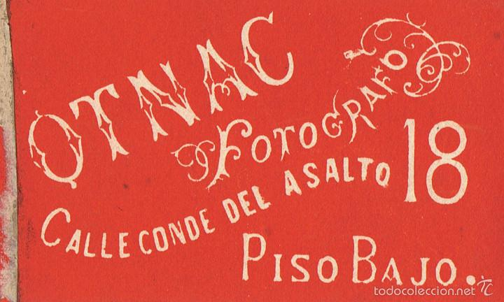 Fotografía antigua: FOTO CARTA DE VISITA. RETRATO DE SEÑORITA . CA.1870-1875. FOTÓGRAFO: OTNAC. BARCELONA. - Foto 2 - 57285566