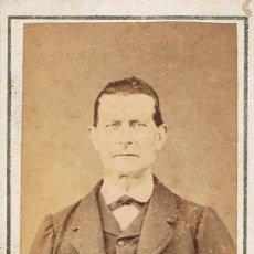 Fotografía antigua - FOTO C.DE VISITA. RETRATO FRONTAL DE CABALLERO.CA.1870-1875. FOTÓGRAFO: FERNANDO NAPOLEON. BARCELONA - 57670868