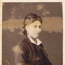 Fotografía antigua: FOTO C. DE VISITA. RETRATO DE SEÑORA DE PERFIL. CA.1880. FOTÓGRAFO: A.F NAPOLEON. BARCELONA.. Lote 57691938