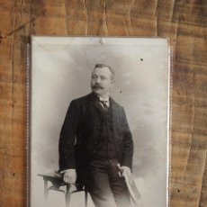 Fotografía antigua: CDV CARTE DE VISITE EDUARD BERTEL (SALZBURGO) RETRATO CABALLERO CON BIGOTE. Lote 58129132