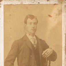 Fotografía antigua: FOTO CARTA DE VISITA. RETRATO DE CABALLERO CORDOBÉS.CA.1885-1890. FOT. E.ALMENARA. CÓRDOBA.. Lote 58207273