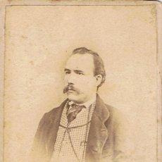 Fotografía antigua: FOTO CARTA DE VISITA. RETRATO DE CABALLERO. CA.1870-1875. FOT: FERRIOL Y FORGAS. PALAFRUGELL.. Lote 58230931
