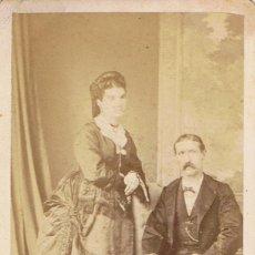 Fotografía antigua: FOTO C. DE V. RETRATO DE MATRIMONIO.ESCRITA AL DORSO.CA.1875. FOT:ROWSELL Y CIA. VALPARAISO (CHILE). Lote 58349699