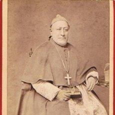 Fotografía antigua: FTO.C.DE VISITA. RETRATO DE OBISPO DEDICADA A SU AMIGO.1885. FOT.: A.STERLIN. LA PAZ (BOLIVIA). Lote 58349789