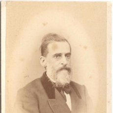 Fotografía antigua: FOTOGRAFÍA DE CABALLERO - CARTE DE VISITE - FOTÓGRAFO J. MON - MADRID - SIGLO XIX. Lote 59614695