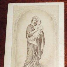 Fotografía antigua: FOTOGRAFIA ALBUMINA CDV, CARTE DE VISITE DE NUESTRA SEÑORA DEL SAGRADO CORAZON DE JESUS, CCOLEGIO DE. Lote 59809976