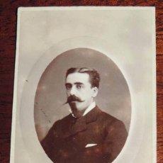 Fotografía antigua: FOTOGRAFIA ALBUMINA CDV, CARTE DE VISITE DE CABALLERO, SIGLO XIX, MIDE 10,2 X 5,5 CMS.. Lote 59810364