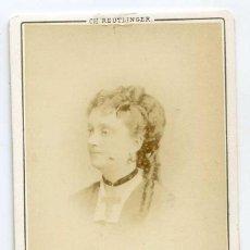 Fotografía antigua: MLLE. ANTONINE, TEATRO VAUDEVILLE, CH. REUTLINGER PHOTOGRAPHE, PARIS. Lote 60348683