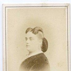 Fotografía antigua: MARIE SAAS, CANTANTE DE OPERA, 1867. CH. REUTLINGER PHOTOGRAPHE, PARIS. Lote 60348779