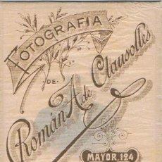 Fotografía antigua: FOTO CARTA DE VISITA. RETRATO FRONTAL DE CABALLERO. JUNIO 1904. FOT.ROMÁN A DE CLAUSOLLES.BARCELONA.. Lote 60923475