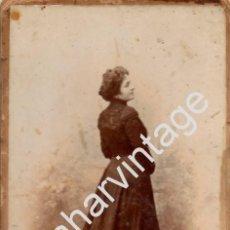 Fotografía antigua: ESPECTACULAR CDV DE UNA DAMA SEVILLANA, FOT.P.CEMBRANO, 125X215MM. Lote 61400851