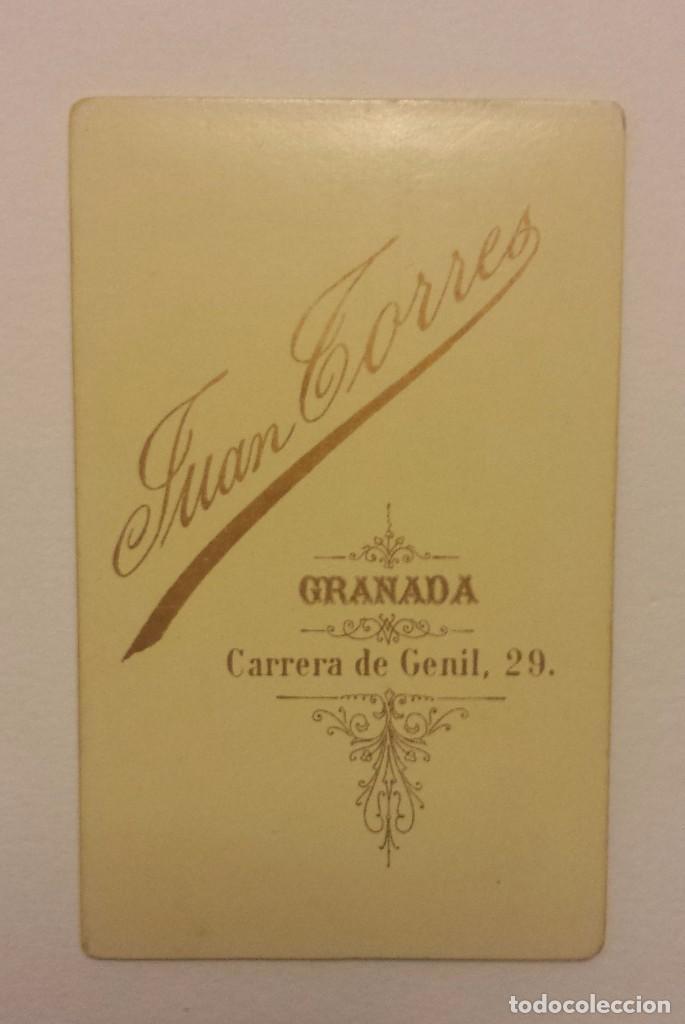 Fotografía antigua: CARTA DE VISITA FOTOGRAFIA DE JUAN TORRES DE GRANADA - Foto 2 - 62780292