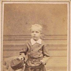 Fotografía antigua: FOTO C.V. RETRATO A CORTA EDAD DEL PINTOR OTTO GUSTAF KRIENS. 5 ENERO 1879. FOT:WOLLRABE (HOLANDA). Lote 65484630