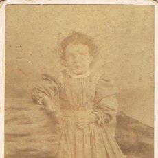 Fotografía antigua: FOTO C.V. RETRATO DE NIÑA. CA. 1890-95. FOT:GIUSEPPE ALENZIO (CASALE) (PIAMONTE) ITALIA.. Lote 65568806