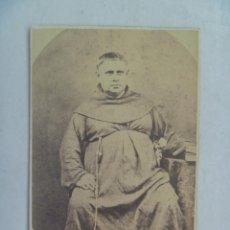 Fotografía antigua: CDV DE MONJE CAPUCHINO , MISIONERO ESPAÑOL DEL SIGLO XIX. DE HONISS (MANILA - FILIPINAS). Lote 65662226