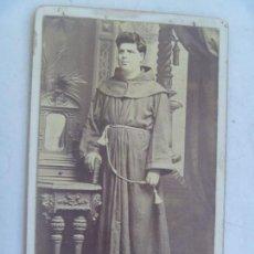 Fotografía antigua: CDV DE MONJE CAPUCHINO , MISIONERO ESPAÑOL DEL SIGLO XIX ,DE FRANCCISCO VAN CAMP, MANILA - FILIPINAS. Lote 65780662