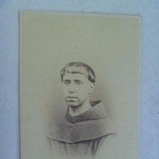 Fotografía antigua: CDV DE MONJE CAPUCHINO , MISIONERO ESPAÑOL DEL SIGLO XIX. DE HONISS (MANILA - FILIPINAS). Lote 65817182